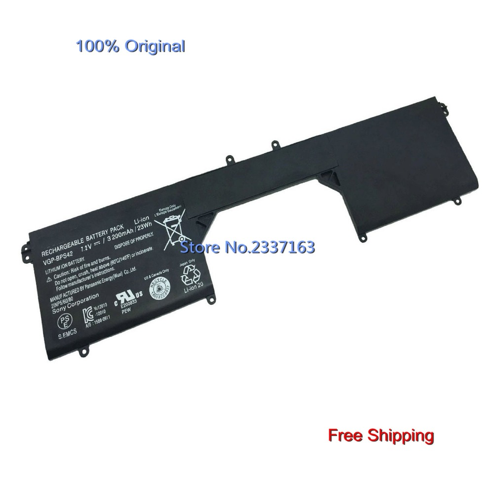 IECWANX 100% new Laptop Battery VGP-BPS42 (7.2V 23Wh 3200mAh) for SONY VAIO 11A SVF11N14SCP SVF11N15SCP SVF11N18CW VGPBPS42