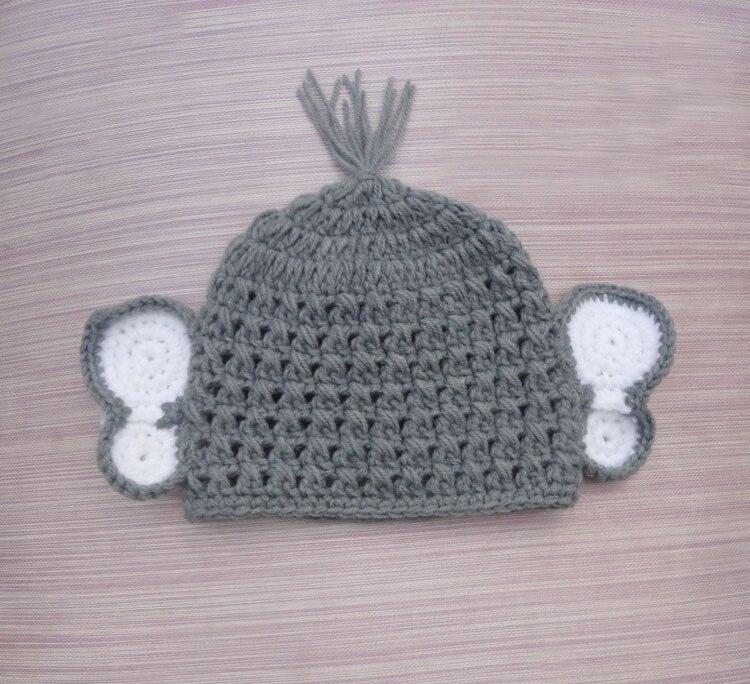 2020 Novelty Adorable Valentines Baby Grey Elephant Hat,Handmade ... | 684x750