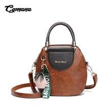 купить CGMANA Women Handbag 2018 Fashion Retro Hit Color Round Handbag Shoulder Bag for Girl Women Messenger Bag Designer Crossbody Bag дешево