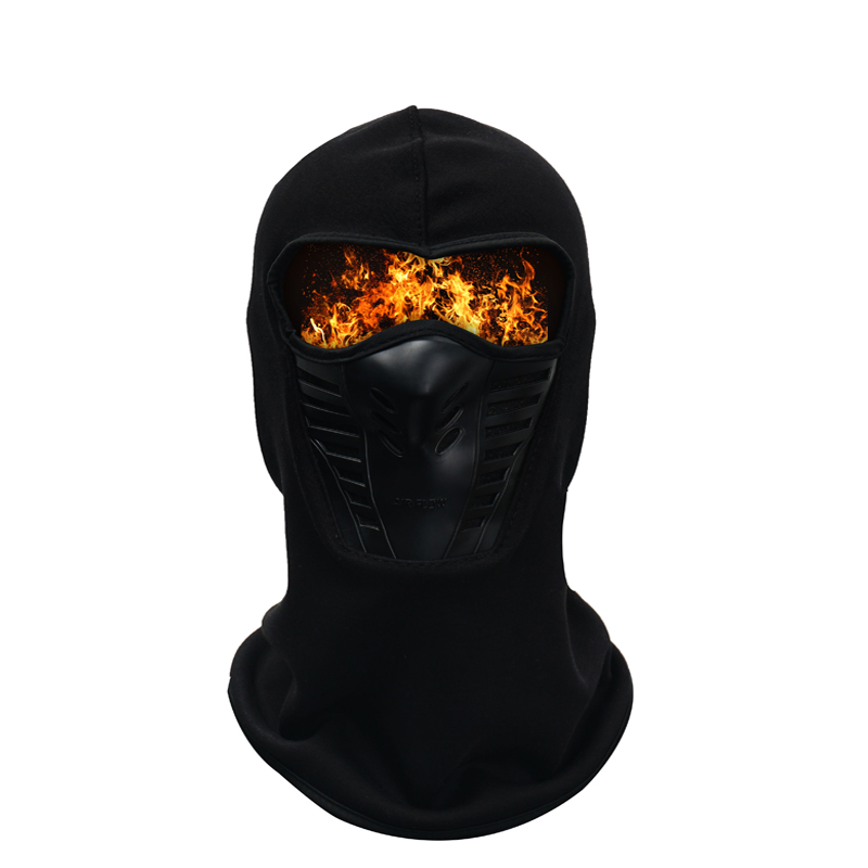 Winter Outdoor Neck Full Face Mask Warm Quick Dry Windproof Fleece Protection Hat Ski Helmet Cap Cycling Bike Accessories Sports