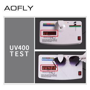 Image 5 - AOFLY 브랜드 디자인 패션 고양이 눈 선글라스 여성 빈티지 절반 프레임 선글라스 여성 Semi Rimless UV400 Gafas De Sol A143