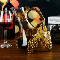 Luxury Handmade Crystal Red Wine Pourer Glass Decanter Brandy Decant Set Jug Bar Champagne Water Bottle Drinkware Gift
