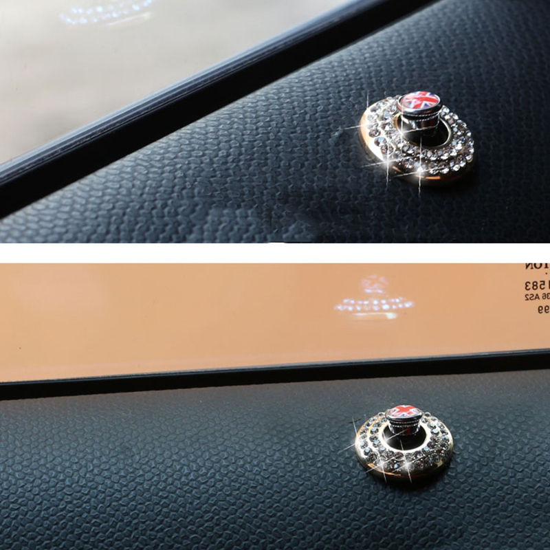 2PCS Styling Door Pin Diamond Ring Decoration Door Lock Sequin Sticker for Mini Cooper One R52