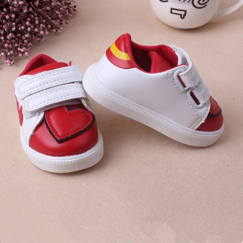 Baby Sport Shoes Leather Splicing Love heart Boys Girls Baby good quality casual shoes Sneakers Comfortable