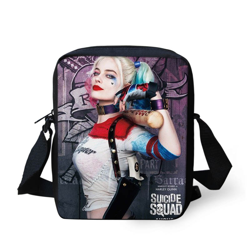 FORUDESIGNS Harley Quinn Suicide Squad Messenger bags for Girls Funny Joker Shoulder bags Children Kids Crossbody bags Mochila suicide squad harley quinn harleen quinzel high quality pu short wallet purse with button