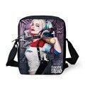 Harley quinn forudesigns comando suicida messenger bags for girls divertido bromista del hombro bolsos niños niños bolsas crossbody mochila