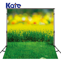 Kate Spring Photography Background Flower Scenic Photography Backdrops With Grassland Washable Bokeh Studio Backdrop Background