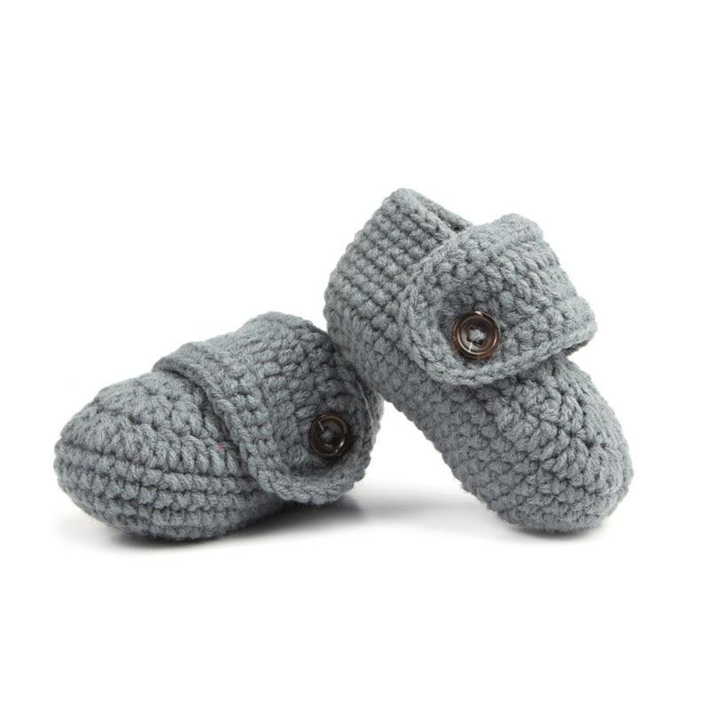 Fashion Cheap Infant Shoes Buckle Handmade Crochet Baby
