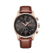 BOSS Navigator Classic Men Chronograph Watch Brand Quartz Fashion Leather Wrist - 1513496