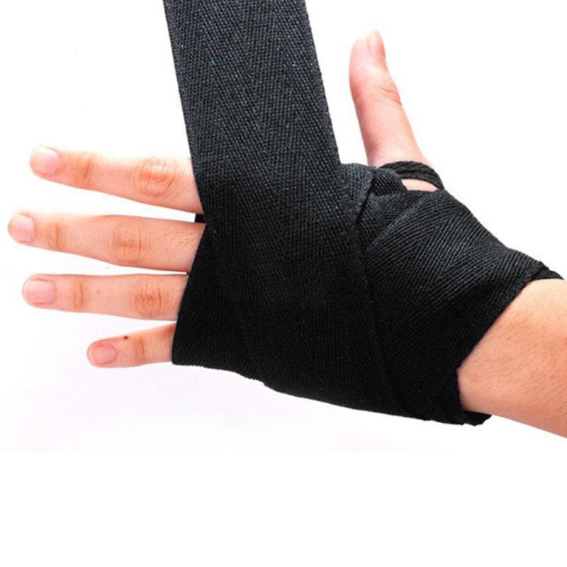 1 par de guantes de boxeo Handwraps vendaje punzonado envoltura de mano guantes de entrenamiento de boxeo