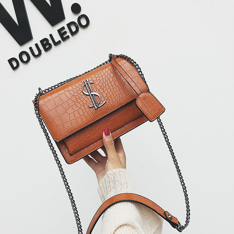 2019 Luxury  Famous Brand Women Bags Designer Lady Classic Plaid Shoulder Crossbody Bags Leather Women Messenger Handbags
