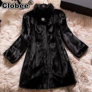 61d736f82cad1 Clobee Plus Size Faux Fur Coats Winter Long Jacket