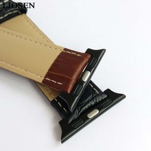 LIOSEN Watchband for iWatch 38mm 42mm Genuine Leather Strap