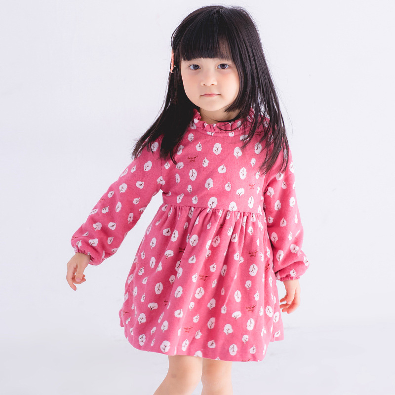 Princess Floral Baby Girls Dresses for Party 2018 New Winter Kids Dress For Girl Cotton Girls Sweet Children Clothing 3ds120 children clothing girls dress brand princess dress floral design baby kids dresses for girls clothes teenager infant party wear