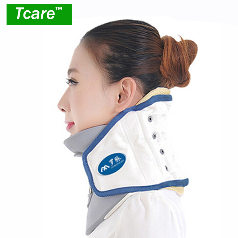 Tcare Air Traction Neck Support Brace Leher Cervical Vertebra Corrector Neck Leher Pain Therapy Relief Device Massager Health Care
