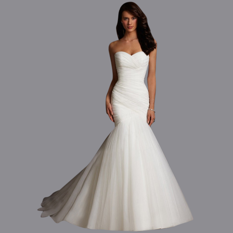 Latest Wedding Gowns 2014: Sexy Strapless Trumpet Mermaid Wedding Dresses 2014 New