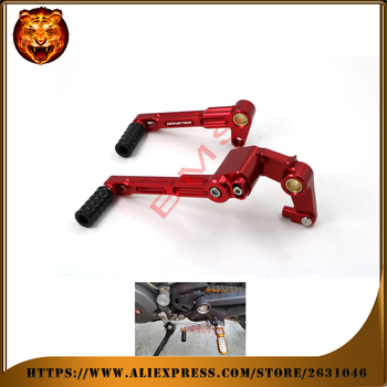Motorcycle Accessories Adjustable Gear Shift Lever Shifter Foot Pedal &Brake Pedal Lever R For DUCATI MONSTER 696 796 1100/S