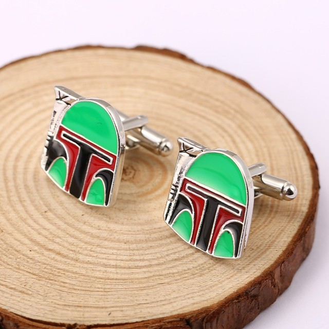 Star Wars Falcon Stormtrooper Darth Vader Cufflink Mens Cuff Buttons Links Jewelry