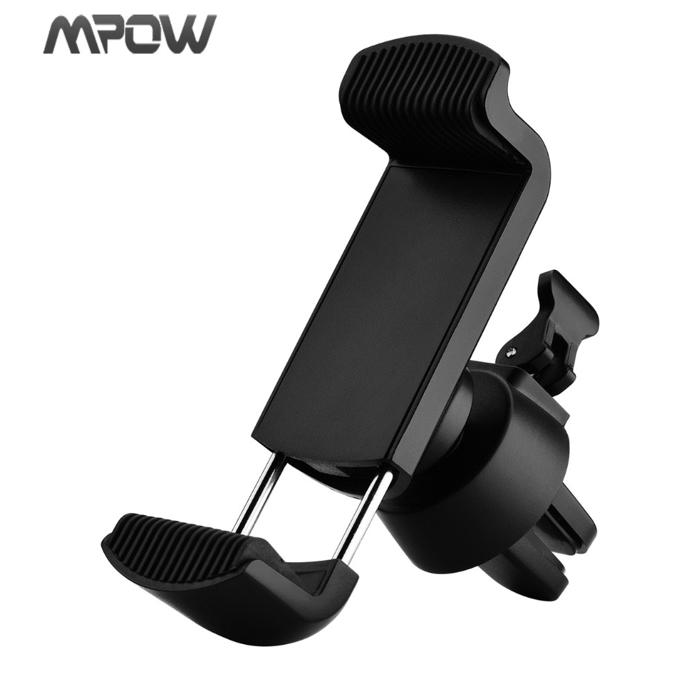 Mpow Air Vent Car Phone Holder For Smartphone GPS Mp3 Player Up to 5.5inch Air Vent Mount Phone Cradle ABS +Built-in Steel Core mobile phone car vent holder