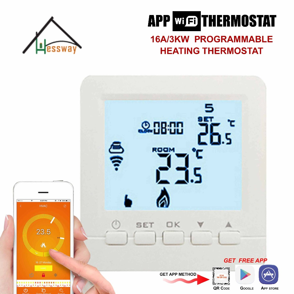 16A 3KW APP IOS Android floor heating thermostat wifi controller for Electric Underfloor Heating Film valve radiator linkage controller weekly programmable room thermostat wifi app for gas boiler underfloor heating