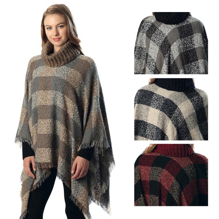 2017 Irregular Women Tassel Cloak Sweater de gran tamaño Geometric - Ropa de mujer