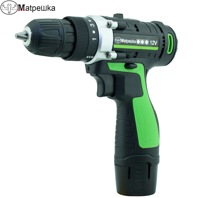 12V Electric drill cordless screwdriver with Power tools 1 lithium battery Screwdriver charged drill auto feed screwdriver