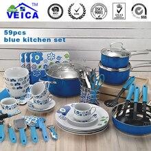 2017 New Casserole Aluminum Cookware Cooking Pots And Pans Set Sale Jogo De Panelas Kitchen Cabinet Starter Kit Free Shipping