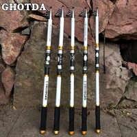 GHOTDA телескопическая удочка Жесткий Ультра светильник удочка для ловли карпа 2,1-3,6 м
