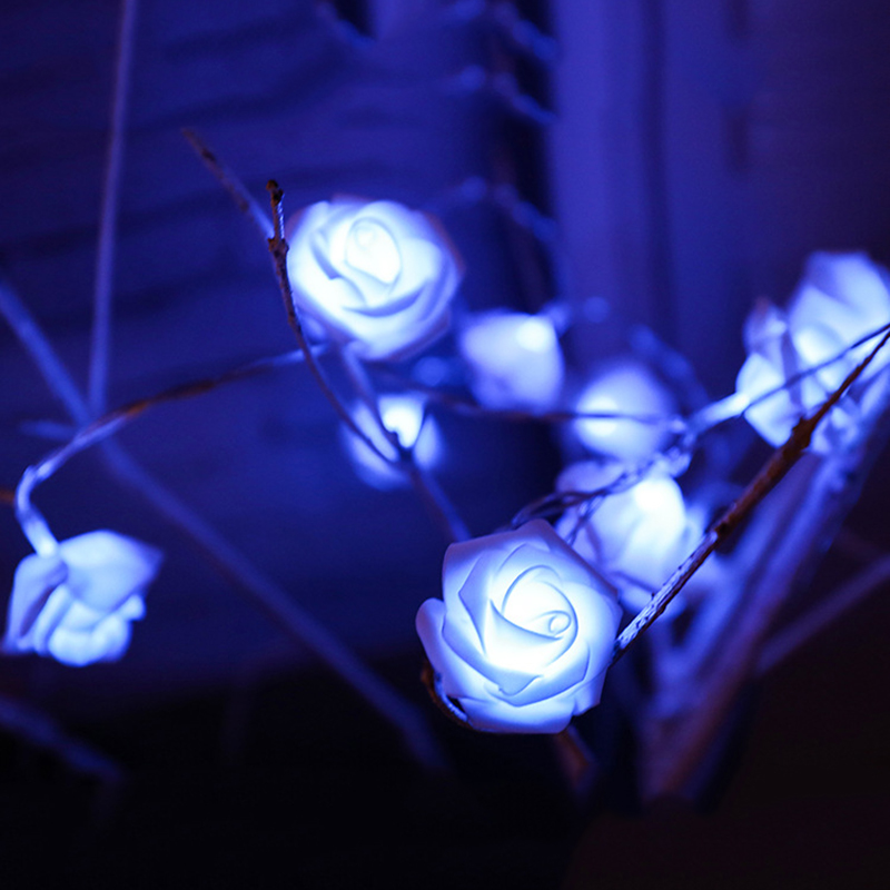2019 Best Gift LED Rose Flower LED String Lights Batteridrift Event - Ferie belysning - Bilde 4