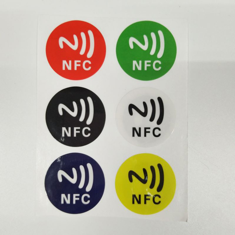 Red Mini Waterproof Ntag213 13.56mhz RFID Smart Card NFC Tags Programmable PET RFID NFC Tag/Label/Sticker NFC Card For Library