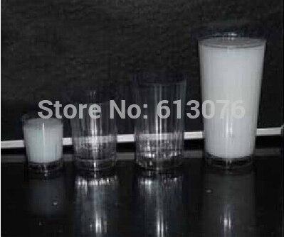 Diminuer les verres de lait, un à trois verres de lait, magie, magie de tasse, illusions, astuces de verre nouveautés fête/blagues