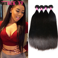 7a não transformados brasileiro virgem cabelo liso 4 bundles cabelo humano tecem msbeauty virgem cabelo brasileiro cabelo liso virgem