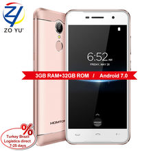 Doogee HOMTOM HT37 Pro смартфон двойной динамик 4 г Android 7.0 Mobilphone 5.0HD Mtk6737 Quad Core 3 г + 32 г 3000 мАч отпечатков пальцев телефона
