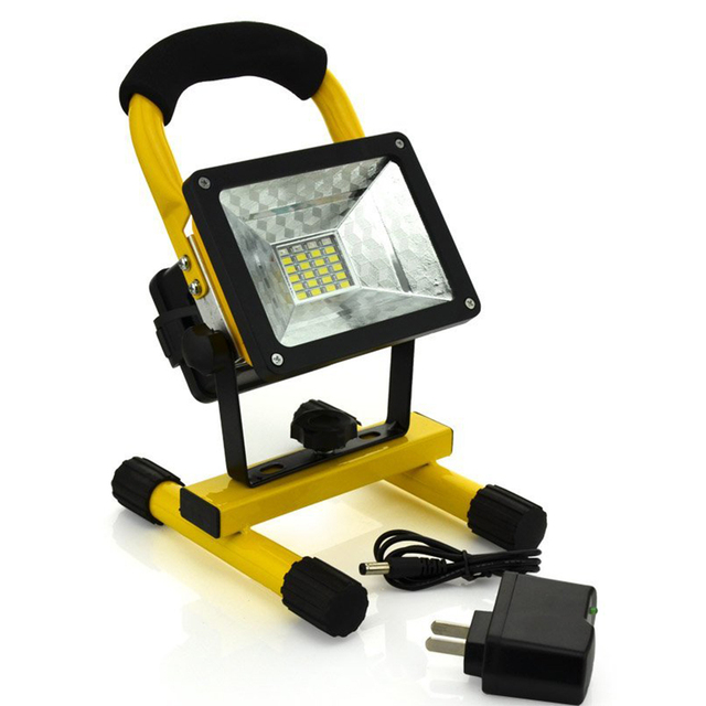 Portable Ip65 24led 30w Flood Light Waterproof Spotlights Rechargeable 18650 Battery Floodlight Outdoor Led Work Emergency