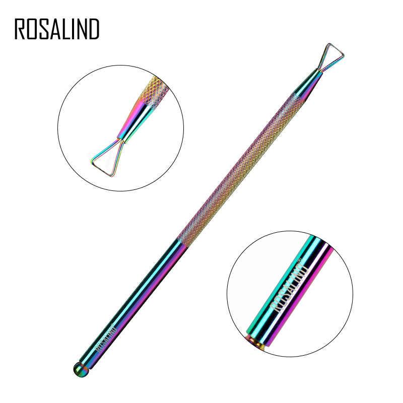 Set de manicura ROSALIND, kit de esmalte de uñas de gel, pinza de cutícula profesional de acero inoxidable, removedor de tijeras, herramientas de decoración de uñas acrílicas