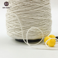 Let's Make Thick Natural Cotton Twine 500 Feet Cone 100% Natural Cotton Twine Cotton Twine 2mm Thickness