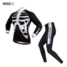 WOSAWE Breathable Long Sleeve Cycling jerseys Suit/Quick-Dry MTB Road Ciclismo Bicycle Bike Jerseys Sportswear Cycling Clothing