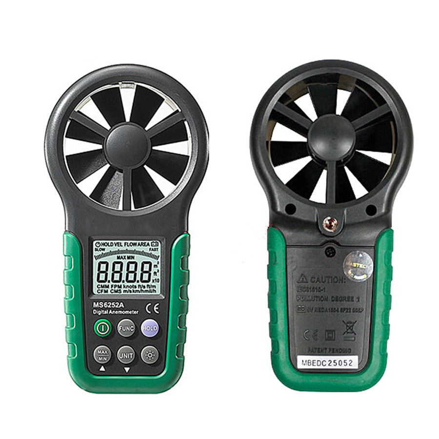 Digital Anemometer T&RH Sensor Air Wind Speed Velocity Meter USB Interface MS6252B digital 3 cup type sensor probe multi function thermo anemometer 80% rh air weather meter wind direction air speed temperature