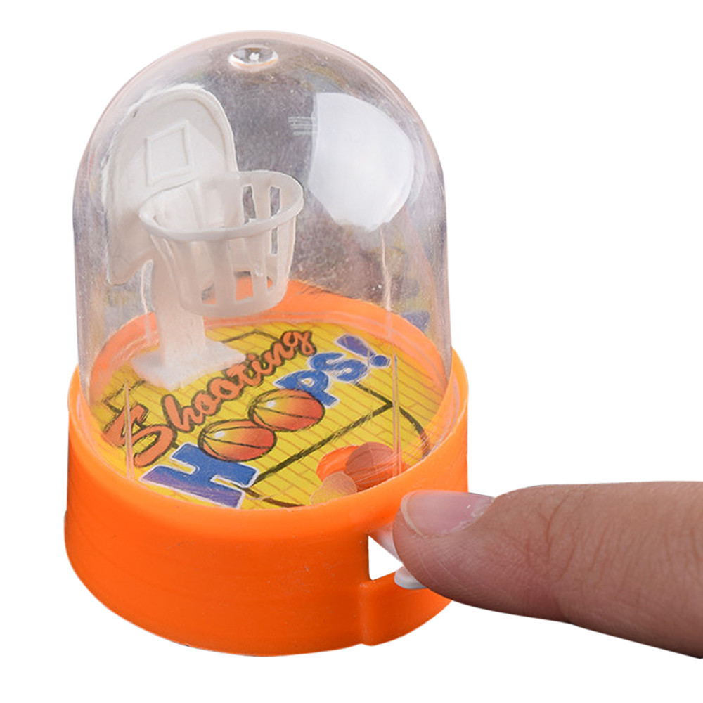 1pcs Random Color Cute Pvc Plastic Small Mini Handheld Finger Ball Hand Basketball Hoops Shooting Puzzle Toy For Kids Funny Gift