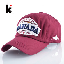 Canada Cotton Snapback Casual Cap Women Hat Letters Patch Hats For Men And Women Bone Feminino Gorra Casquette De Baseball(China)
