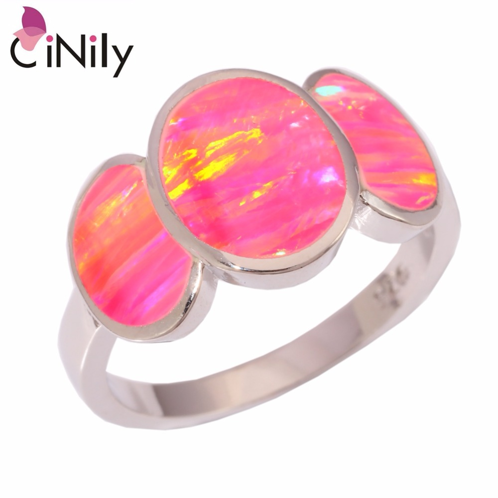 Aliexpress.com : Buy CiNily Created Pink Fire Opal Silver Plated ...