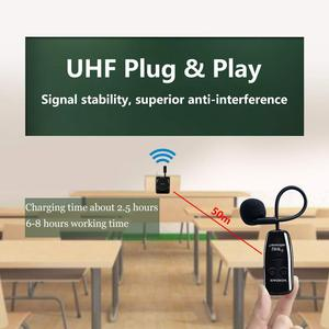 Image 3 - XIAOKOA Dual UHF Headset Wireless Microphone 1 Receiver 2 Headset and Handheld 2 In 1 Rechargeable for Teaching Voice Amplifier