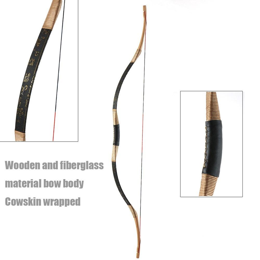 Toptir à l'arc 30 ~ 50lbs tir à l'arc traditionnel arc classique chasse en plein air tir à l'arc long - 2
