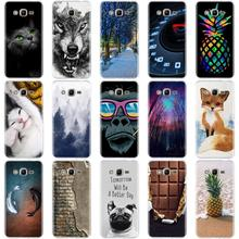 for Samsung J1 J3 J7 J5 2016 Case Silicone Cover 3D Bags Cat