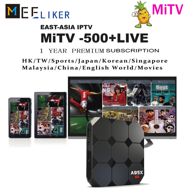 US $36 98 |A95X R2 2GB Korean Japanese Android TV Box 1000+ Free Live  Channel Asian Malaysia Singapore HongKong Chinese Streaming IPTV box-in  Set-top