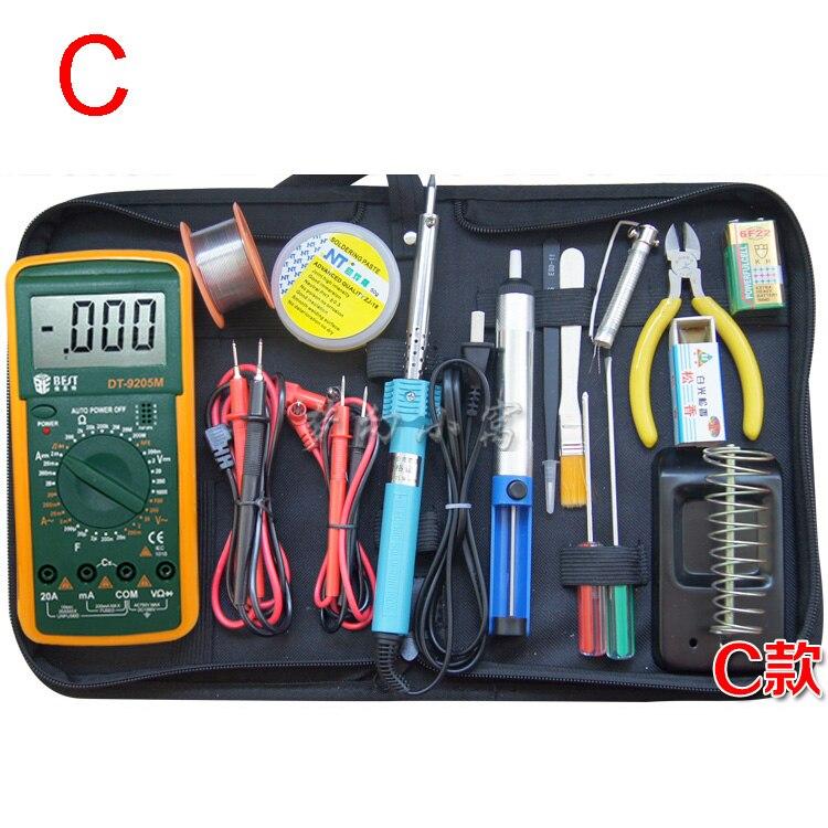 ФОТО Functional Electrical repair tool set digital multimeter Digital display 9205M Multi Meter Test Lead Probe pliers screwdriver