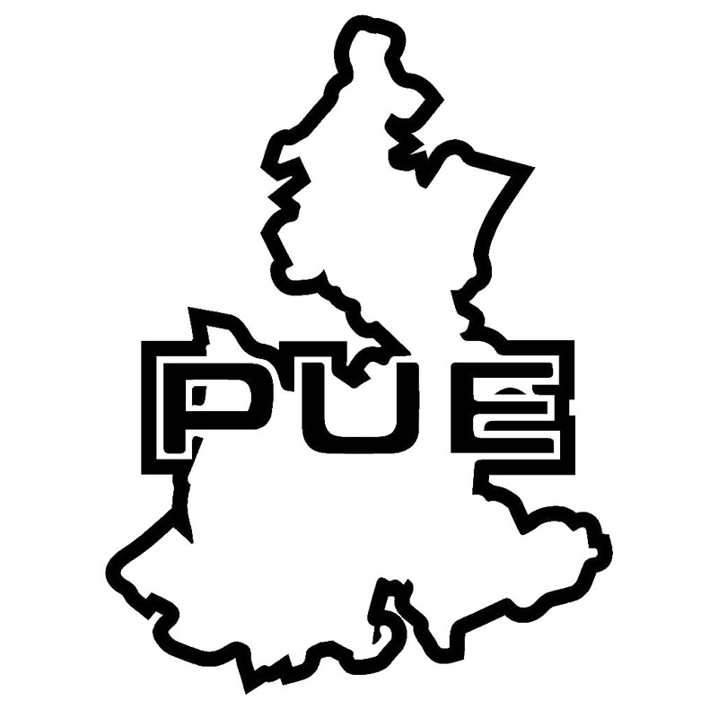 12.4X16.5CM PUEBLA Mexico State Map Car Sticker Car-styling Vinyl Decal Black/Silver Accessories S8-0543