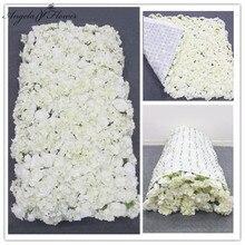 3D kreatywna ściana kwiatów wykonana z tkaniny zwinięta sztuczna kompozycja kwiatowa ślub tło dekoracyjne na ścianę hortensja róża