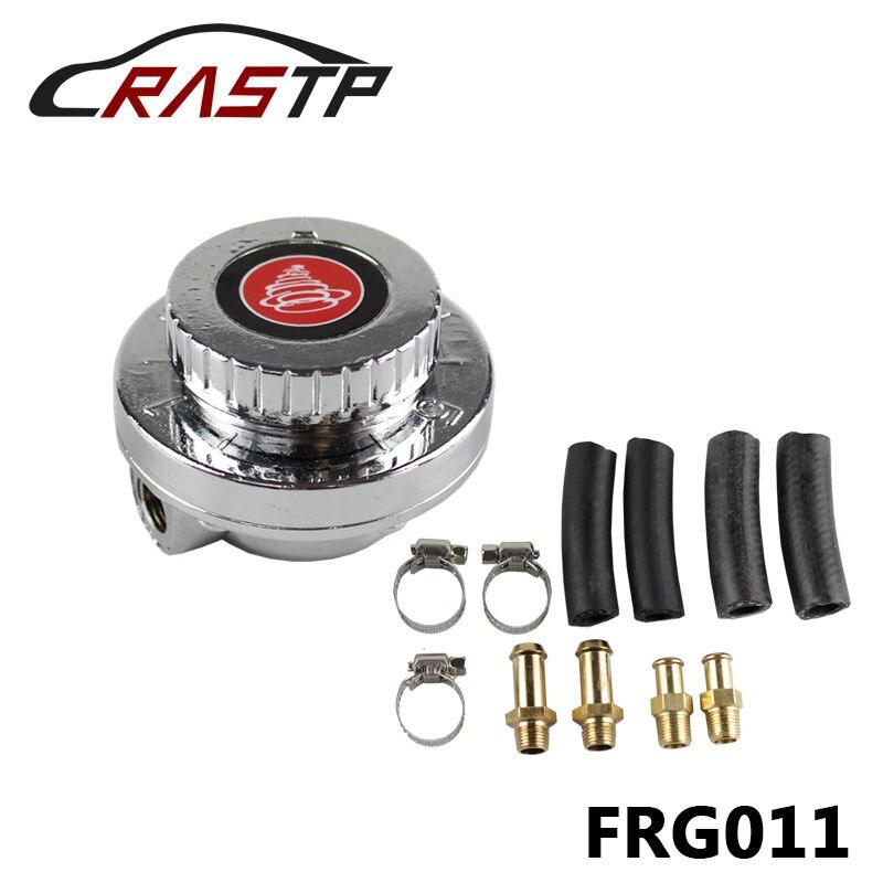 RASTP-High Quality Manual Adjustable Fuel Pressure Regulator Carburettor Carb 8mm & 10mm 1-5 psi With Logo RS-FRG011
