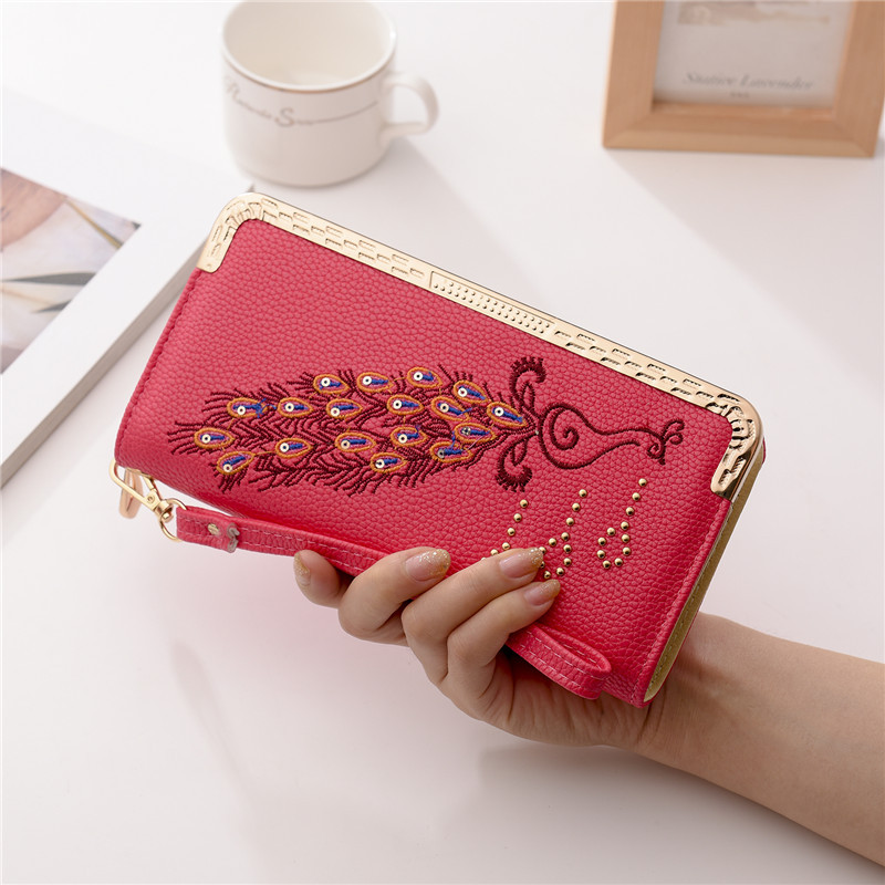 Wallet Women Scrub Leather Lady Purses High Quality Ladies Clutch Wallet Long Female Wallet Carteira Feminina Portefeuille Femme 1